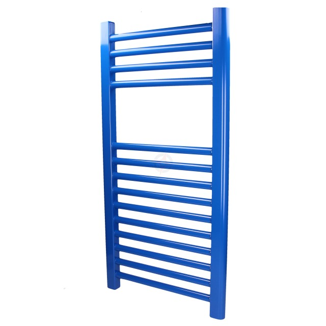 Straight Signal Blue, 800h x 500w Towel Warmer