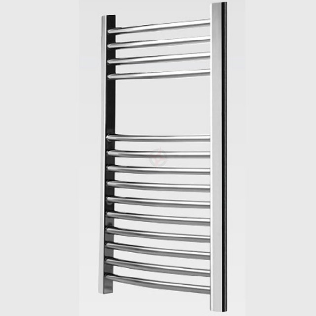 Curved Chrome, 800h x 500w Towel Warmer