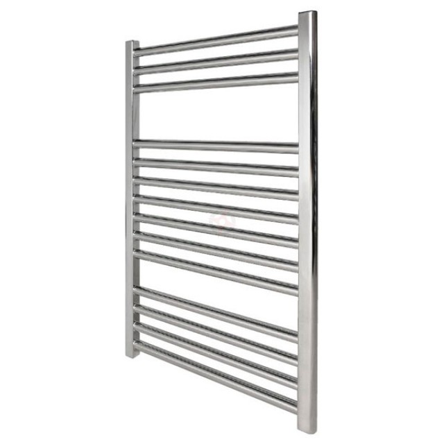 Straight Chrome,  800h x 500w Towel Warmer