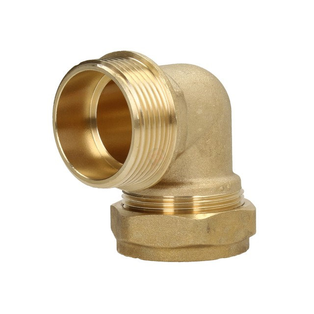 "Compression Adaptor 22mm x 1"" Male Iron Elbow"