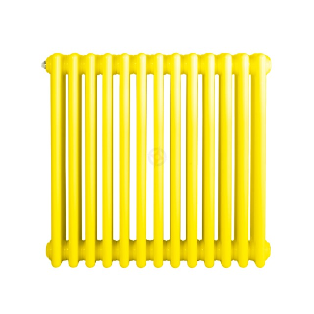 600H x 1180W 3 Column Horizontal Colza Yellow Radiator