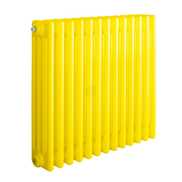 600H x 1180W 4 Column Horizontal Colza Yellow Radiator