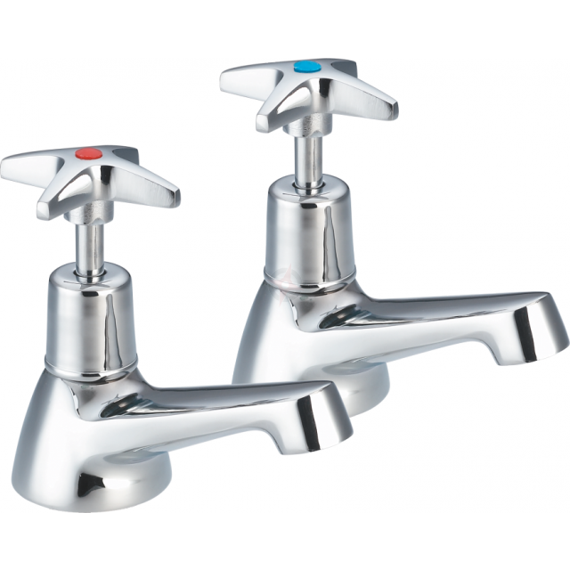 Lavata Cross Head Bath Taps (Pair)