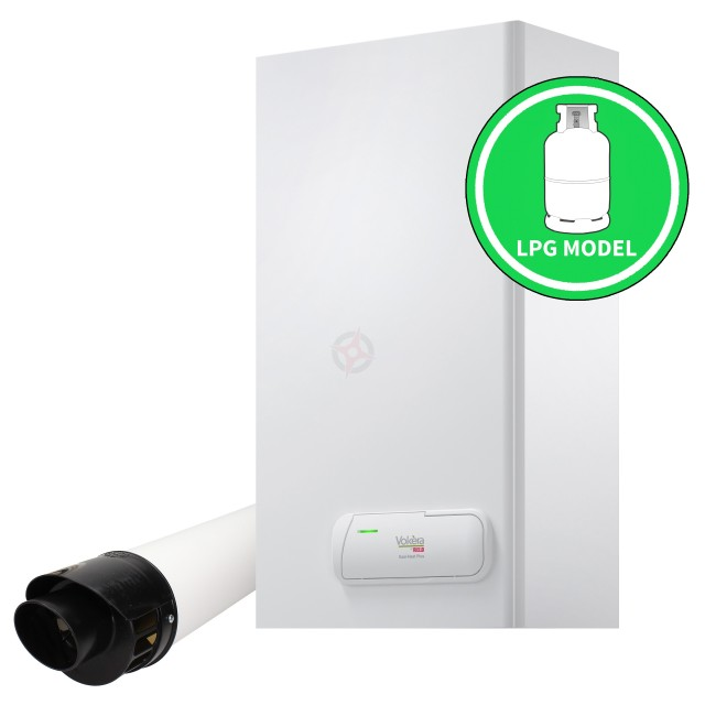 Vokera Easi-Heat Plus 32Ci (ErP) LPG Combi Boiler, Digital Clock and Flue Kit