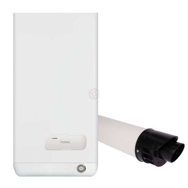 Vokera Easi-Heat Plus 25C (ErP) Combi Boiler, Clock and Flue Kit