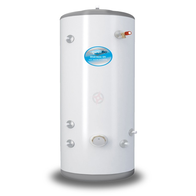 everflo Stainless 500L Indirect Unvented Hot Water Storage Cylinder & Kit