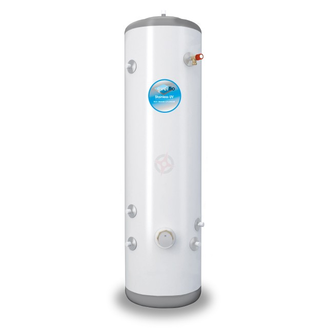 everflo Stainless 150L Slim-Fit Indirect Unvented Hot Water Storage Cylinder & Kit