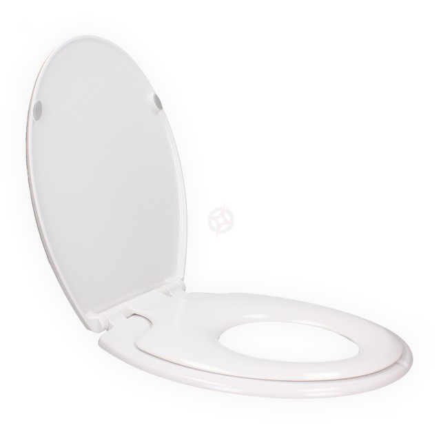 Family White Plastic Toilet Seat