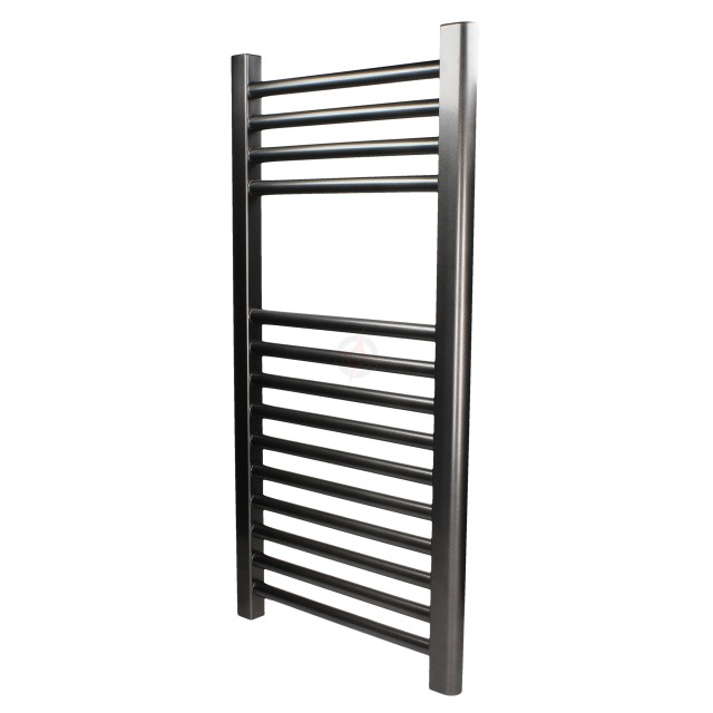 Straight Gunmetal, 1200h x 600w Towel Warmer