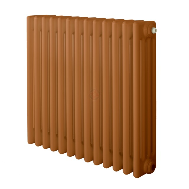 600H x 1180W 4 Column Horizontal Beige Brown Radiator