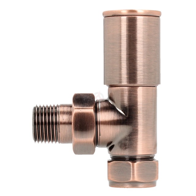 Evolve HP 15mm Antique Copper Angled Wheel Head Valve