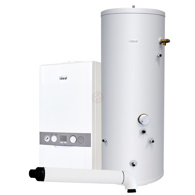 Ideal Independent 30 System Boiler, Horizontal Flue & Indirect Cylinder