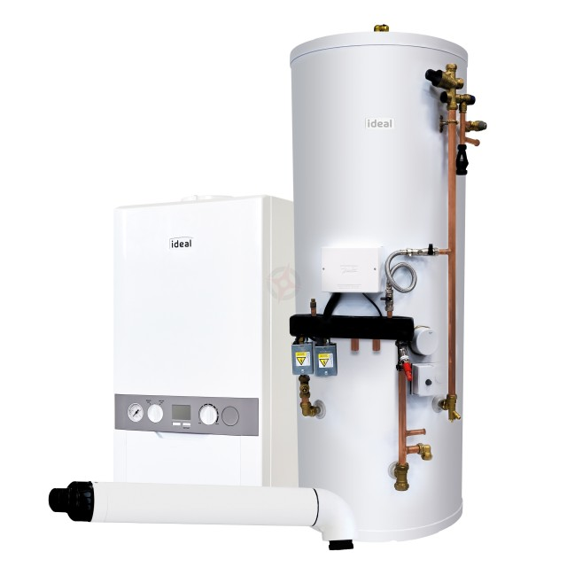 Ideal Independent 30 System Boiler, Horizontal Flue & System Ready Cylinder