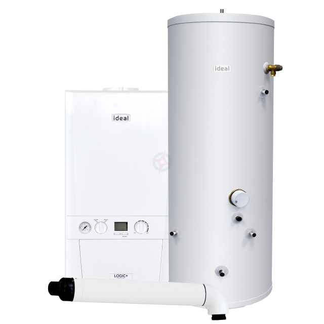 Ideal Logic+ 24 System Boiler, Horizontal Flue & Indirect Cylinder