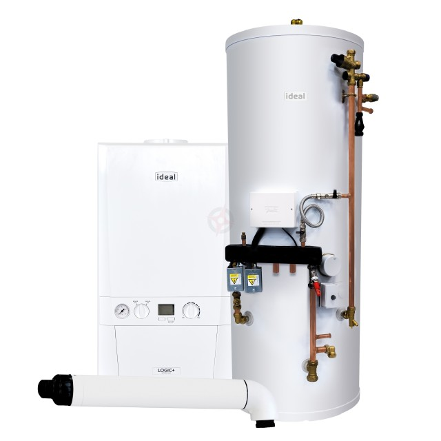 Ideal Logic+ 24 System Boiler, Horizontal Flue & System Ready Cylinder