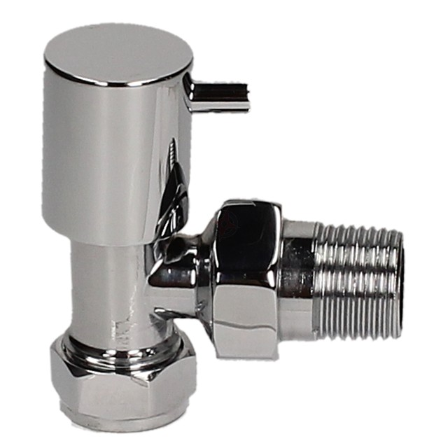 Evolve LP Stub Lever 15mm Chrome Angled Wheel Head Valve