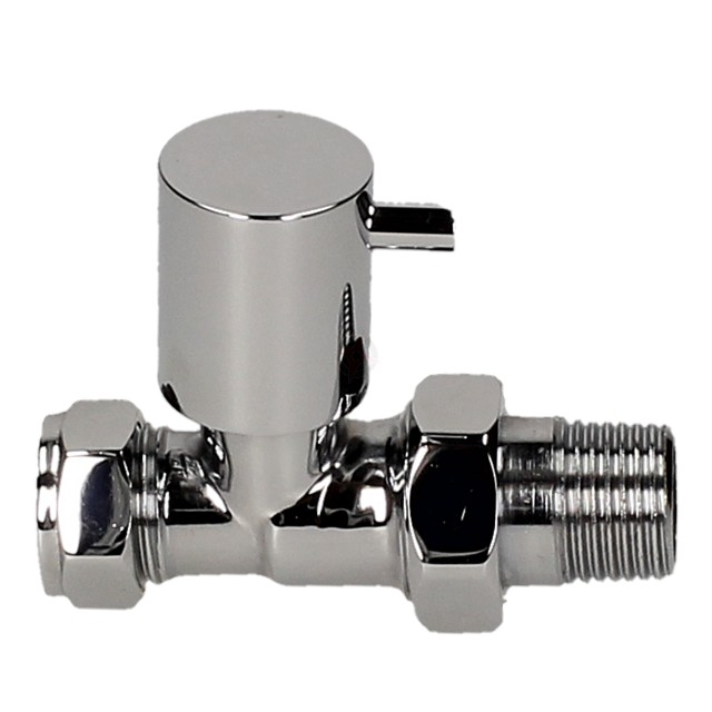 Evolve LP Stub Lever 15mm Chrome Straight Wheel Head Valve