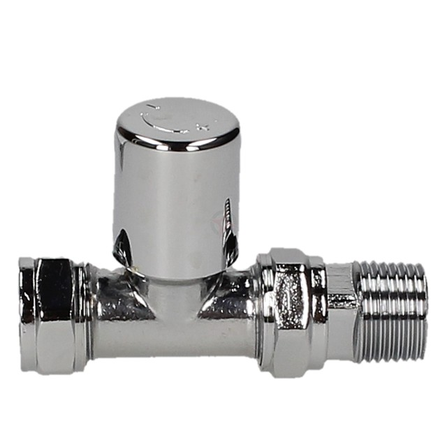 Evolve LP 15mm Chrome Straight Wheel Head Valve