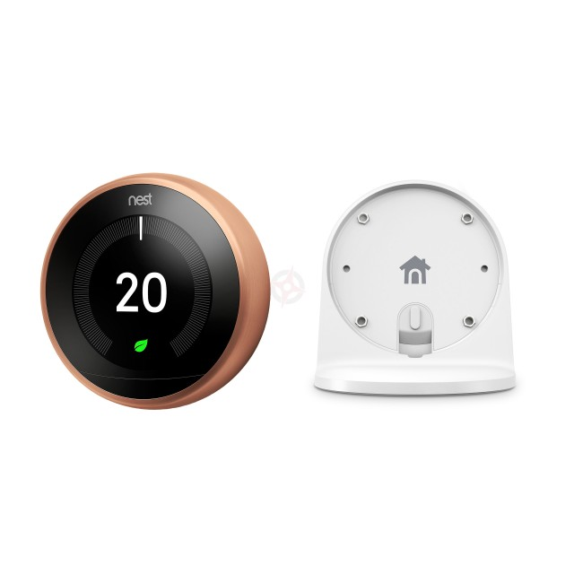 Nest Copper Learning Thermostat, 3rd Generation & Stand