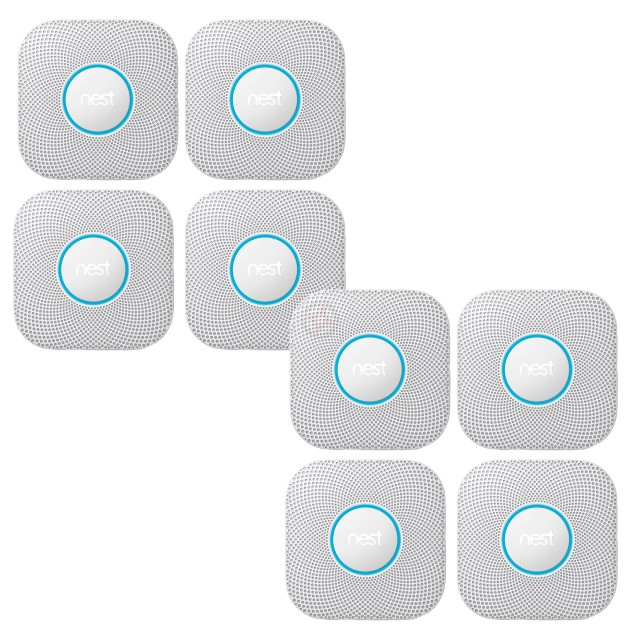 Nest Protect, 2nd Generation, Wired (Pack of 8)