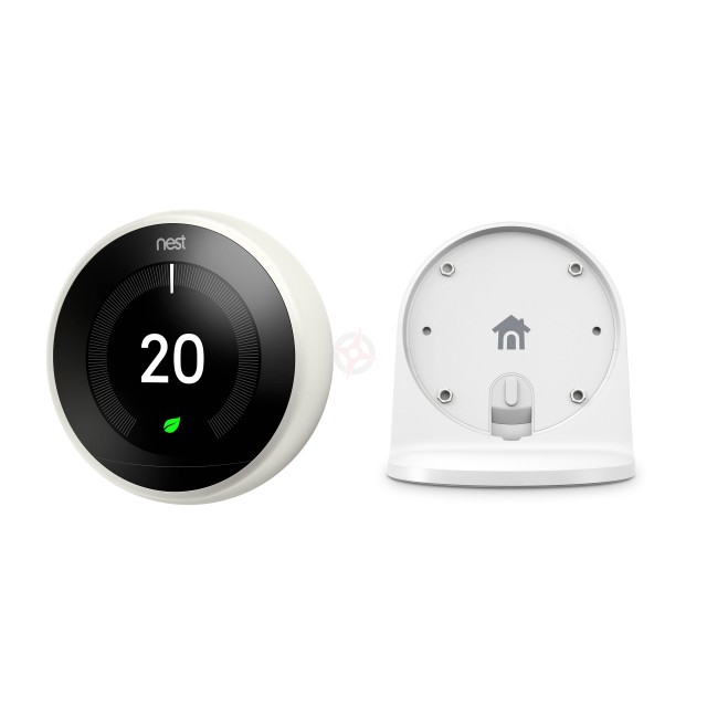 Nest White Learning Thermostat, 3rd Generation & Stand