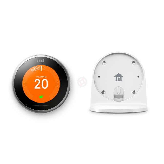 Nest Stainless Steel Learning Thermostat, 3rd Generation & Stand