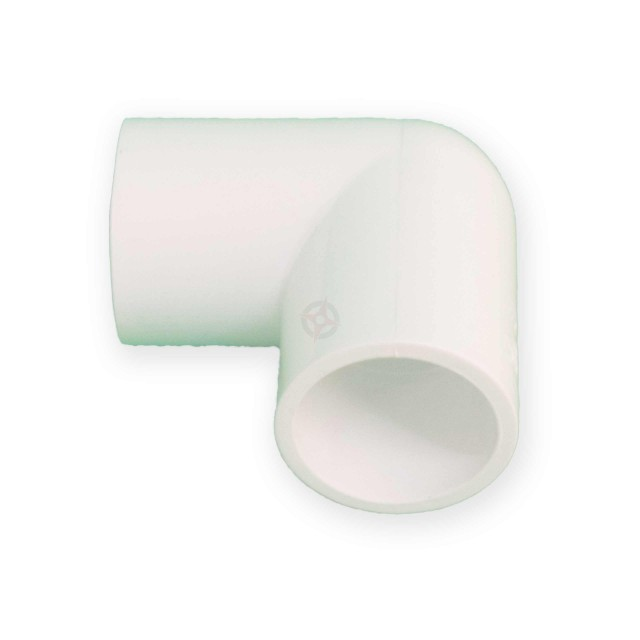 21.5mm White Condensate 90 Degree Elbow