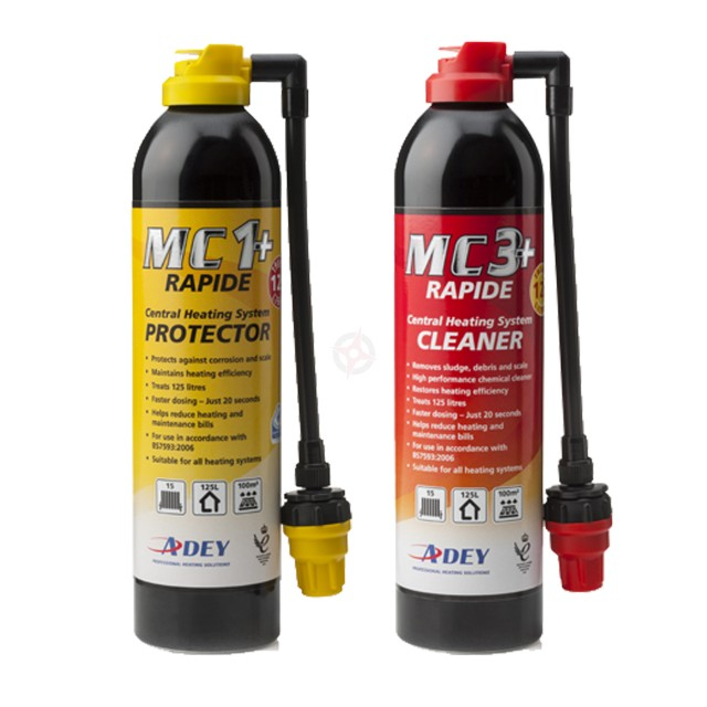 ADEY MC1+ Protector and MC3+ Cleaner, Rapide Duo-Pack