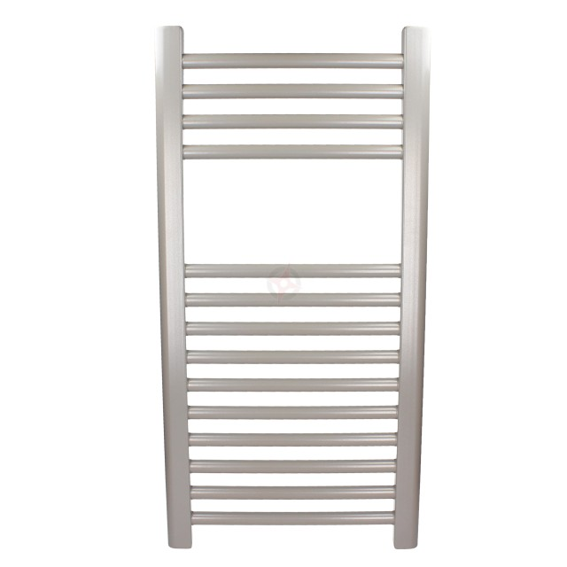 Straight Grey Aluminium, 800h x 500w Towel Warmer