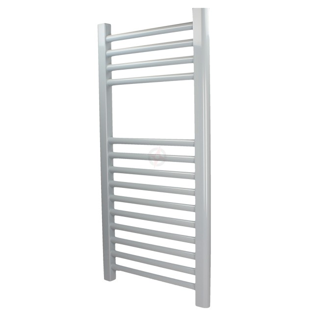 Straight Silver Grey, 1200h x 600w Towel Warmer