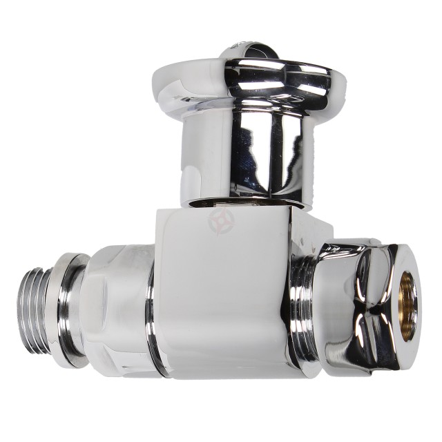 Evolve Contemporary Chrome Straight Wheel Head Valve