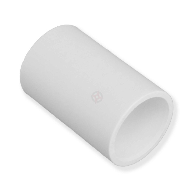 21.5mm White Condensate Straight Coupler