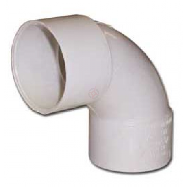 White 43mm Solvent Waste Swept Bend