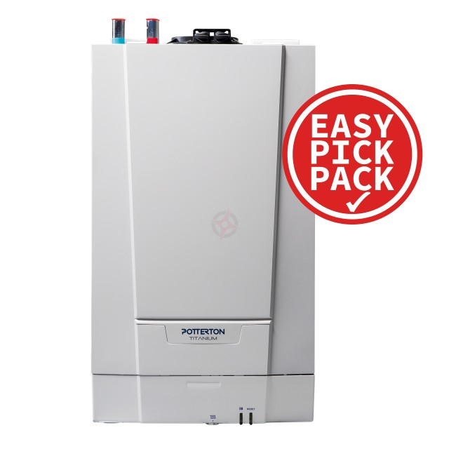 Potterton Titanium 24 (ErP) Heat Only Boiler, Easy Pick Pack