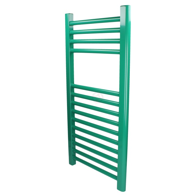 Straight Turquoise Green, 1200h x 600w Towel Warmer