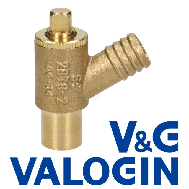 V&G Type A 15mm Plain Shank Drain Off Valve