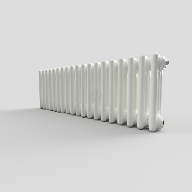 300H x 904W 3 Column Horizontal White Radiator