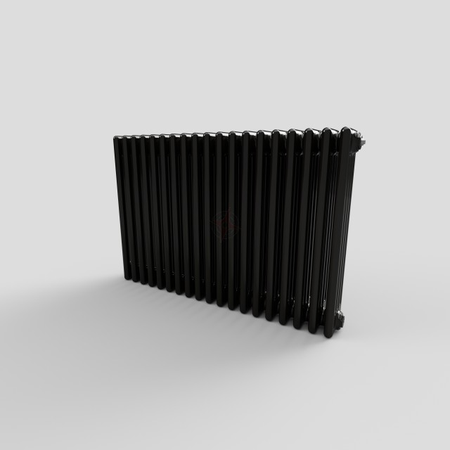 600H x 904W 4 Column Horizontal Jet Black Radiator