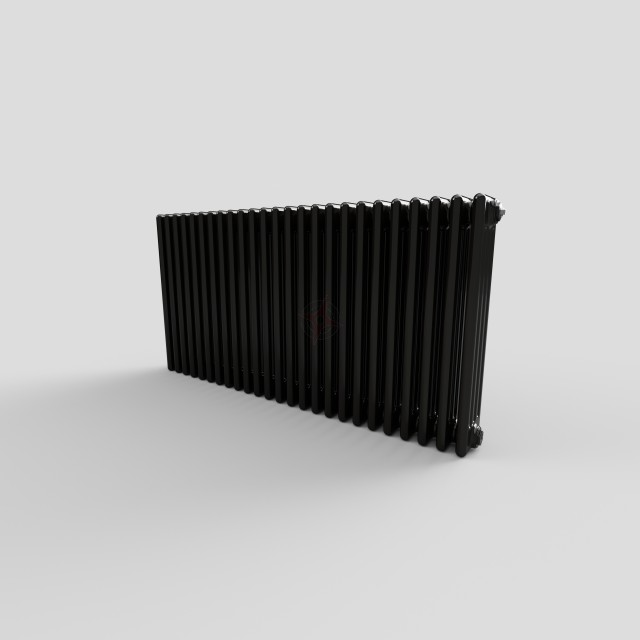 600H x 1180W 4 Column Horizontal Jet Black Radiator
