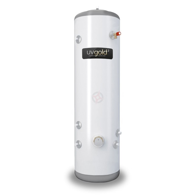 uvgold2 150L Slim-Fit Indirect Unvented Hot Water Storage Cylinder & Kit