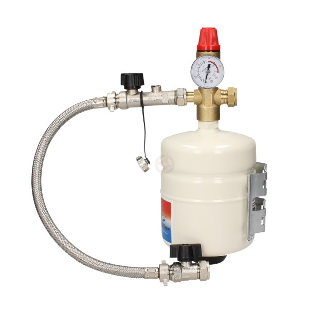 """ThermoWave 2L Multifunction Expansion Vessel (1/2"""") c/w Fixing Bracket & Sealed System Kit"""