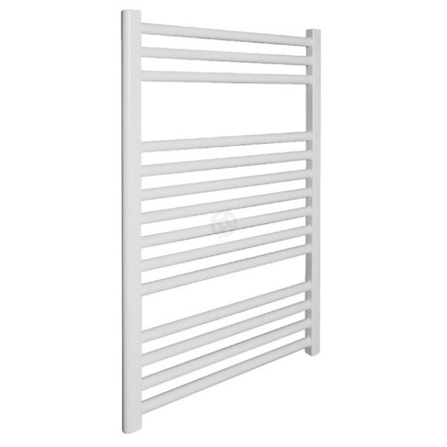 Straight White 800h x 400w Towel Warmer