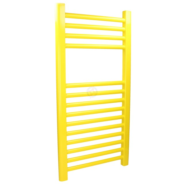 Straight Colza Yellow, 800h x 500w Towel Warmer